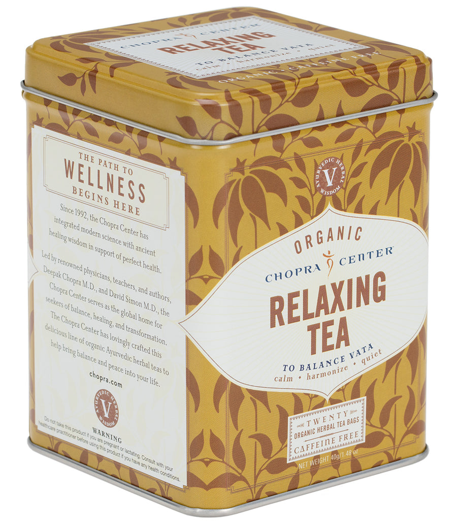 Chopra Center Organic Relaxing Tea, Tin of 20 Sachets -   - Harney & Sons Fine Teas