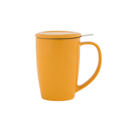 Curve Mug with Infuser 15 oz (Multiple colors)
