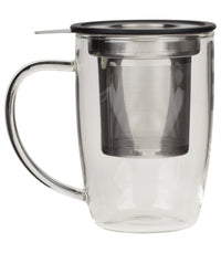 NewLeaf Glass Tall Tea Mug - Black  - Harney & Sons Fine Teas