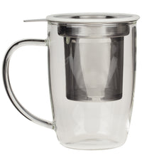 NewLeaf Glass Tall Tea Mug - White  - Harney & Sons Fine Teas