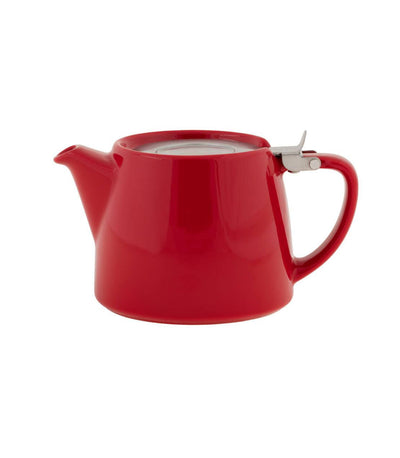 Stump Teapot with Infuser 18 oz (Multiple colors) - Red  - Harney & Sons Fine Teas