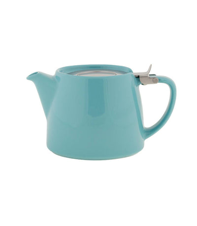 Stump Teapot with Infuser 18 oz (Multiple colors) - Turquoise  - Harney & Sons Fine Teas