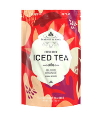 Blood Orange Fresh Brew Iced Tea - Iced Tea Pouches Bag of 15 Pouches - Harney & Sons Fine Teas
