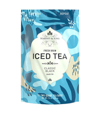 Organic Plain (Black) –Fresh Brew Iced Tea - Iced Tea Pouches Bag of 15 Pouches - Harney & Sons Fine Teas