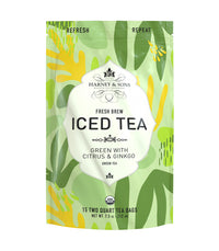 Organic Green with Citrus & Ginkgo - Iced Tea Pouches Bag of 15 Pouches - Harney & Sons Fine Teas