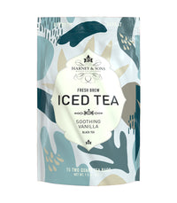 Soothing Vanilla Fresh Brew Iced Tea - Iced Tea Pouches Bag of 15 Pouches - Harney & Sons Fine Teas