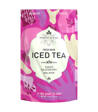 Raspberry Herbal Fresh Brew Iced Tea - Iced Tea Pouches Bag of 15 Pouches - Harney & Sons Fine Teas