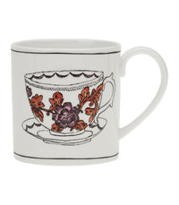 Twig Porcelain Mugs (Assorted) - H. Rosa Rugosa  - Harney & Sons Fine Teas