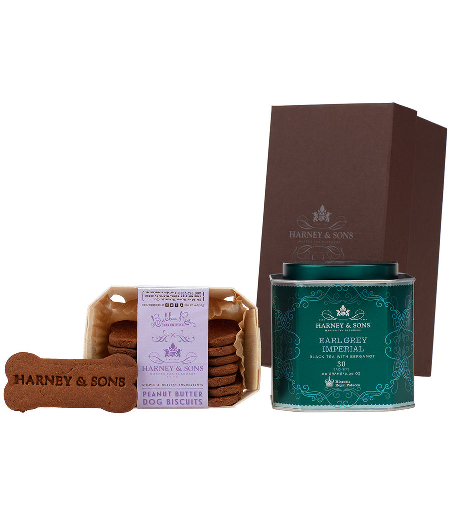 Earl Grey Imperial & Peanut Butter Dog Biscuits Gift -   - Harney & Sons Fine Teas