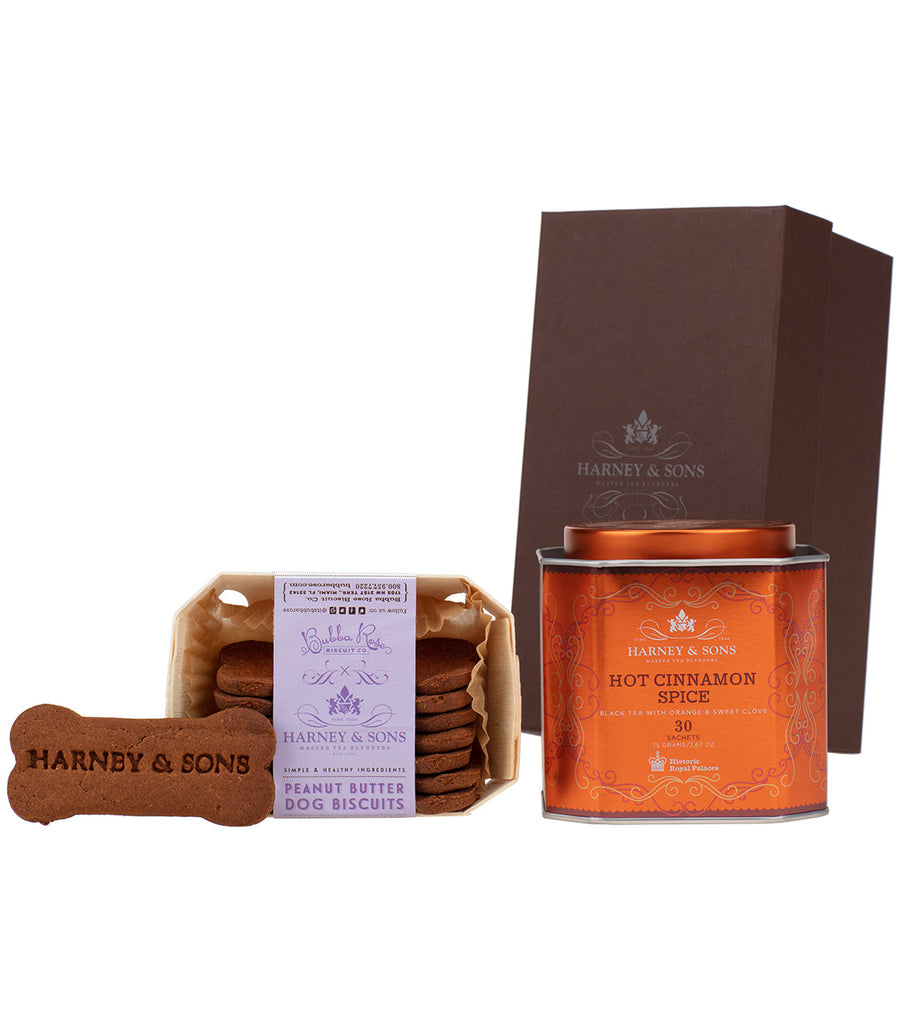 Hot Cinnamon Spice & Peanut Butter Dog Biscuits Gift -   - Harney & Sons Fine Teas