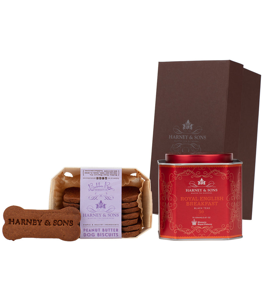 Royal English Breakfast & Peanut Butter Dog Biscuits Gift -   - Harney & Sons Fine Teas