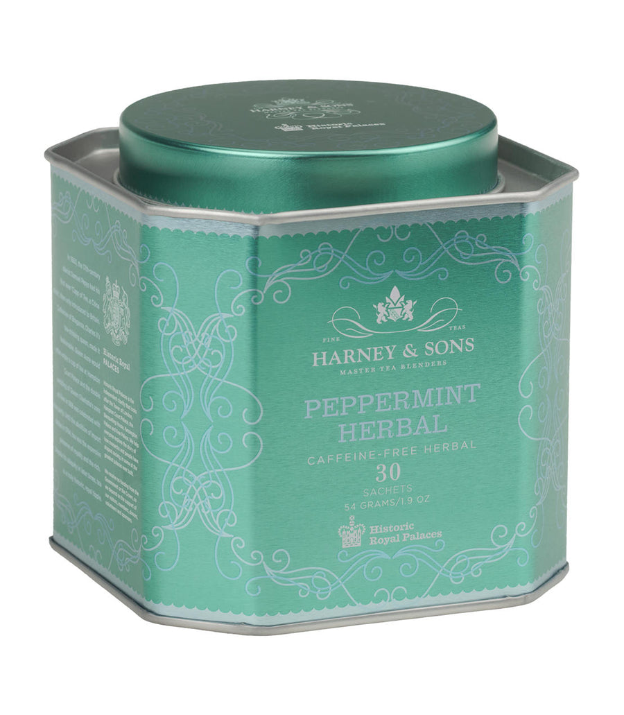 Peppermint Herbal, HRP Tin of 30 Sachets -   - Harney & Sons Fine Teas