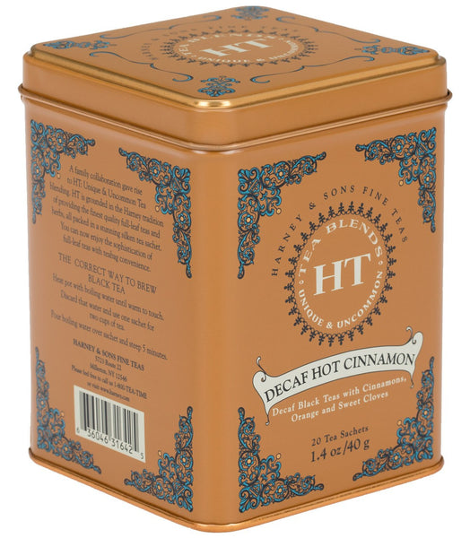 Decaf Hot Cinnamon Spice, HT Tin of 20 Sachets