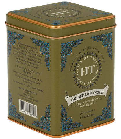 Ginger Liquorice, HT Tin of 20 Sachets