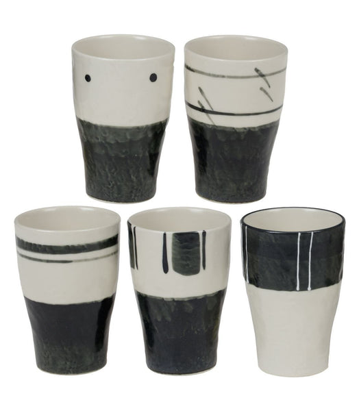 Zen Mono Natural Mino Teacup Set