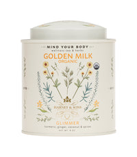 Golden Milk - Glimmer Wellness Blend - Loose 8 oz. Tin - Harney & Sons Fine Teas