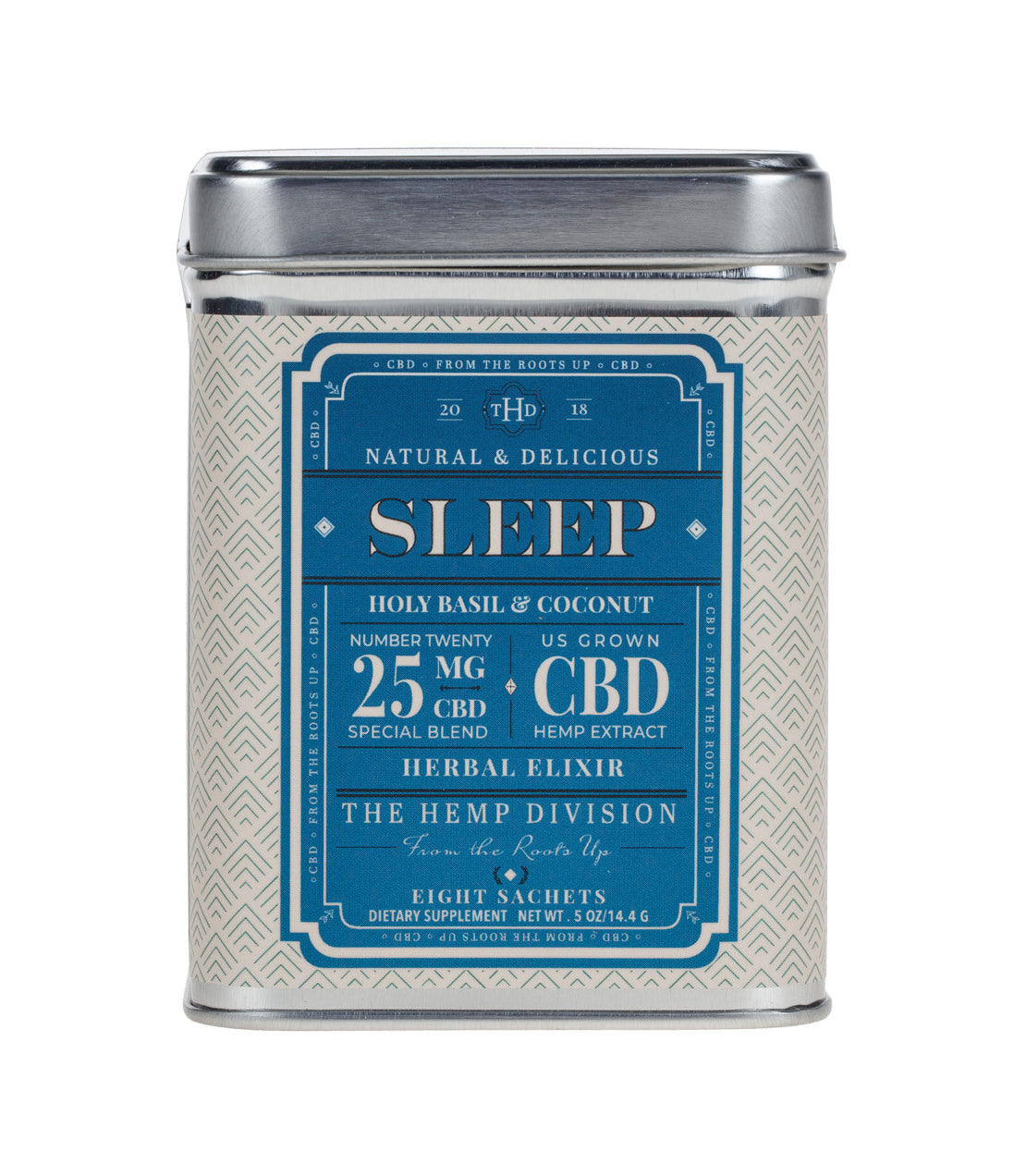 Sleep 8 Ct Sachets Holy Basil Coconut 25 Mg Hemp Harney