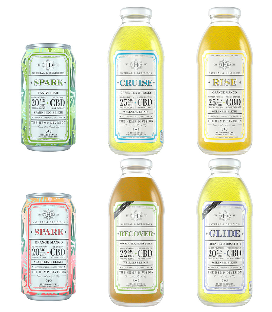 The Hemp Division - 6 CT Mixed Bottle Case -   - Harney & Sons Fine Teas