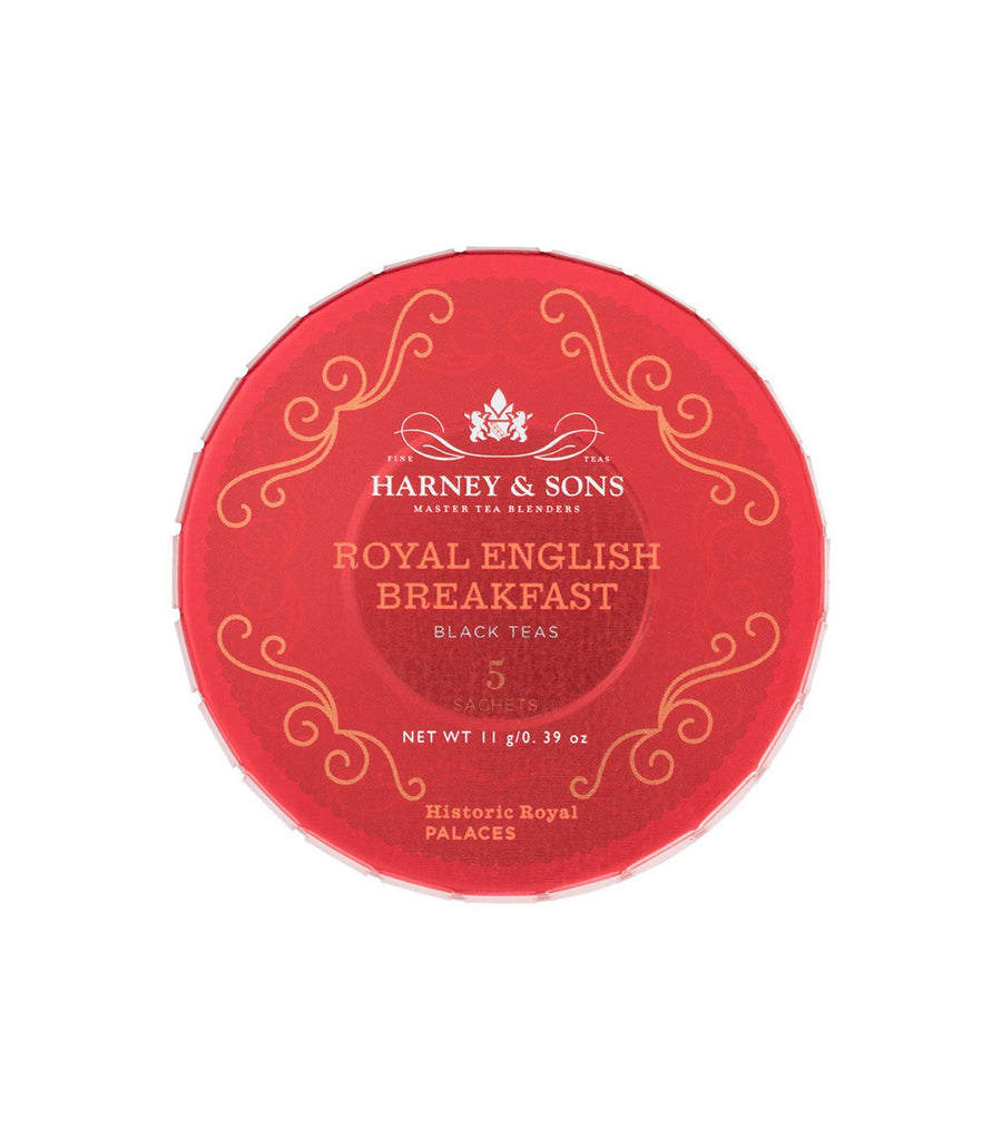 Royal English Breakfast, Tagalong Tin of 5 Sachets -   - Harney & Sons Fine Teas