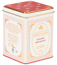 English Breakfast - Sachets Classic Tin of 20 Sachets - Harney & Sons Fine Teas