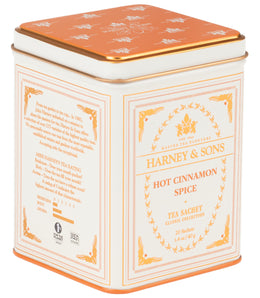 Hot Cinnamon Spice, Classic Tin of 20 Sachets -   - Harney & Sons Fine Teas