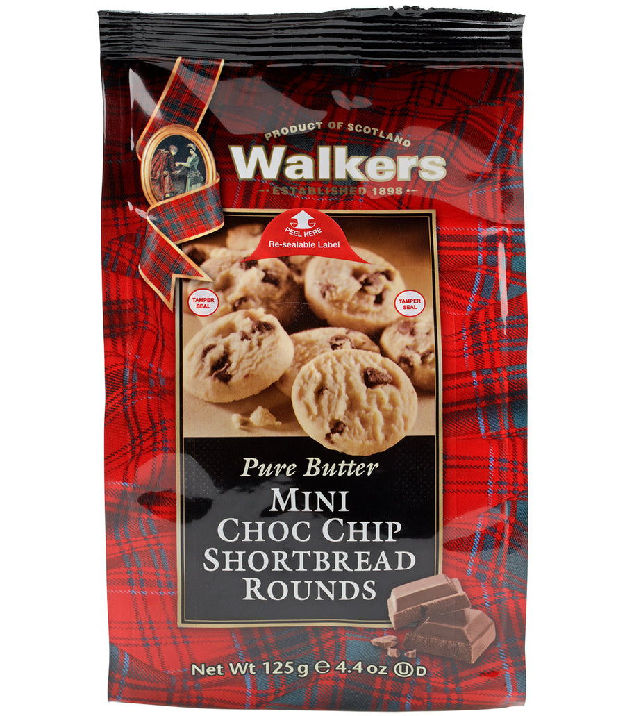 Walkers Mini Choc Chip Shortbread Rounds -   - Harney & Sons Fine Teas