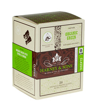 Organic Green with Citrus & Ginkgo - Sachets Box of 20 Individually Wrapped Sachets - Harney & Sons Fine Teas