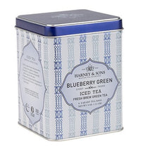 Blueberry Green Fresh Brew Iced Tea - Iced Tea Pouches Tin of 6 Pouches - Harney & Sons Fine Teas