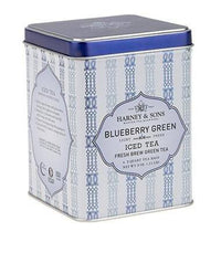 Blueberry Green - Iced Tea Pouches Tin of 6 Pouches - Harney & Sons Fine Teas