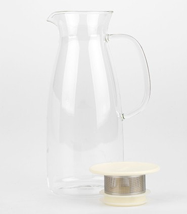 Mist Glass Iced Tea Jug – White