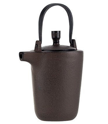 Iron Teapot – Triangle Design, Antique Brown
