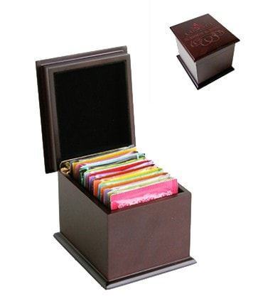 Harney & Sons Sampler –- Wooden Tea Chest with Teabags