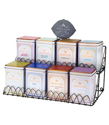 Harney & Sons Tea Display Rack – Decorative Wire, for Eight Tins