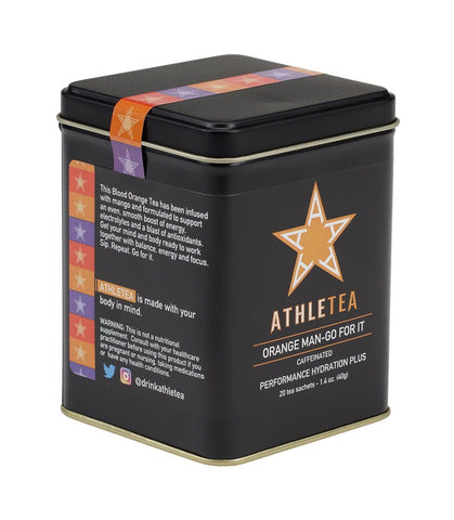 Orange Man-Go For It, Athletea Tin of 20 Sachets