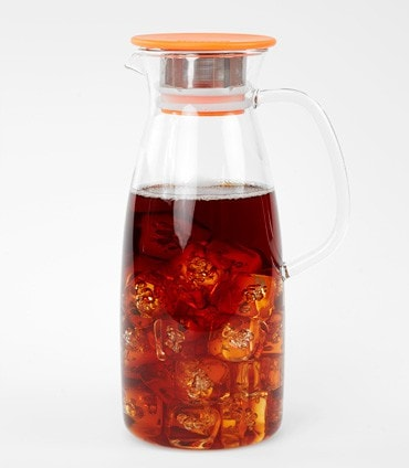 Mist Glass Iced Tea Jug –Orange