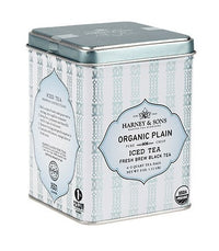 Organic Plain (Black) –Fresh Brew Iced Tea - Iced Tea Pouches Tin of 6 Pouches - Harney & Sons Fine Teas