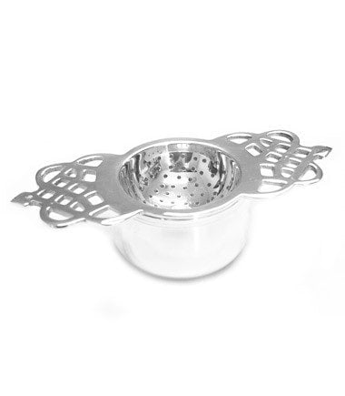 Tea Strainer -– Silver Plated, Short Handle