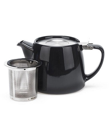Stump Teapot with Infuser – Black, 18 oz