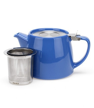 Stump Teapot with Infuser – Blue, 18 oz