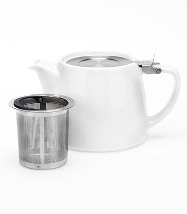 Stump Teapot with Infuser – White, 18 oz