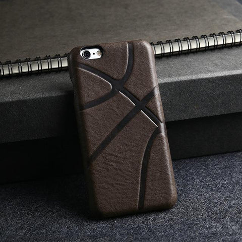 Leather 🏀 Basketball iPhone Cover