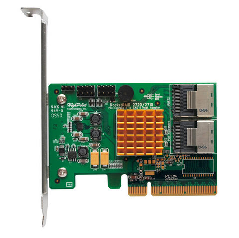 HighPoint RocketRAID 2720SGL 6Gb/s 8-Channel PCI-E x8 SAS RAID Controller, Retail