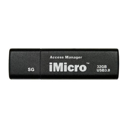 iMicro USB 3.0 Password Protection Flash Drive Sliver Grade 32GB (Black)