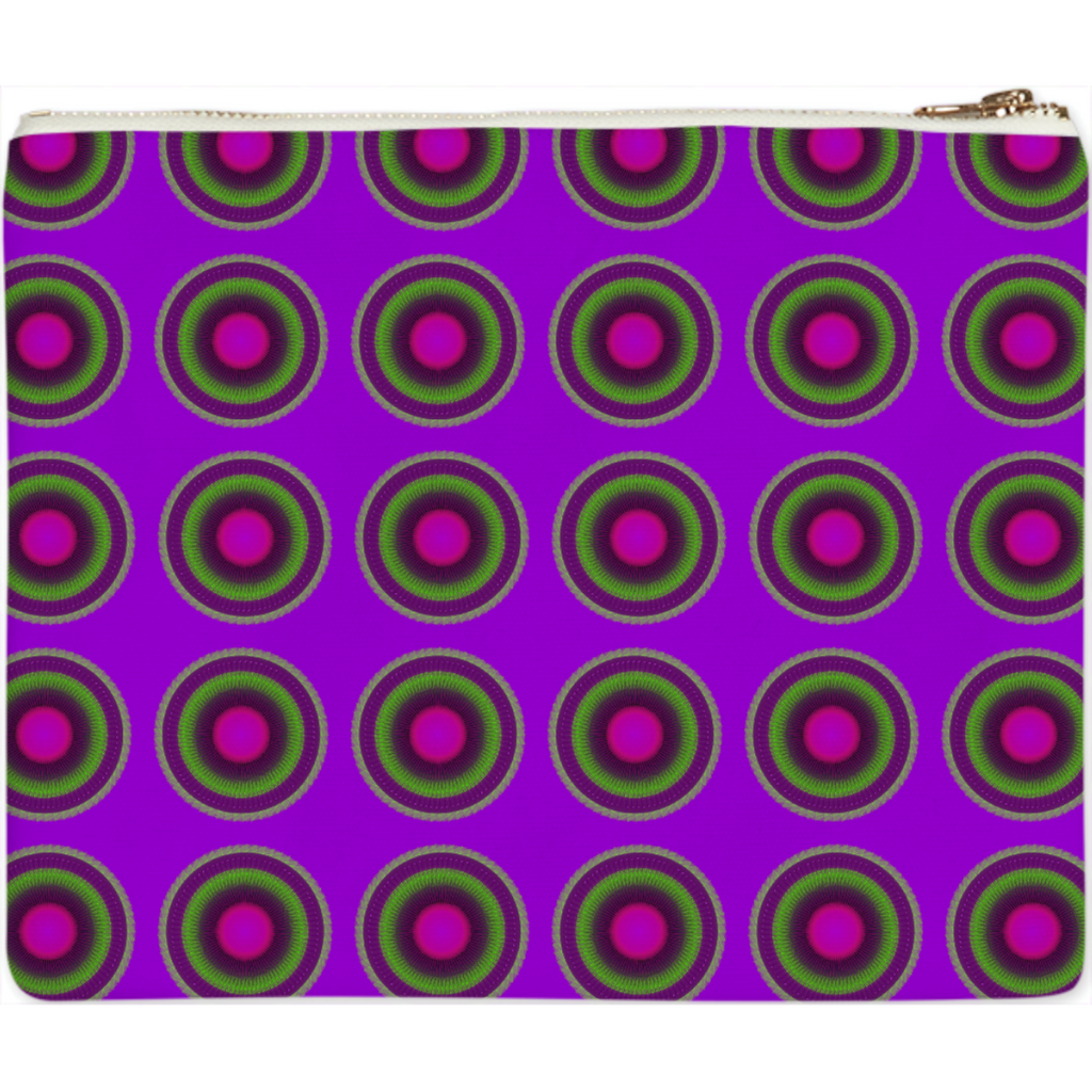 PURPLE CIRCULAR CLUTCH