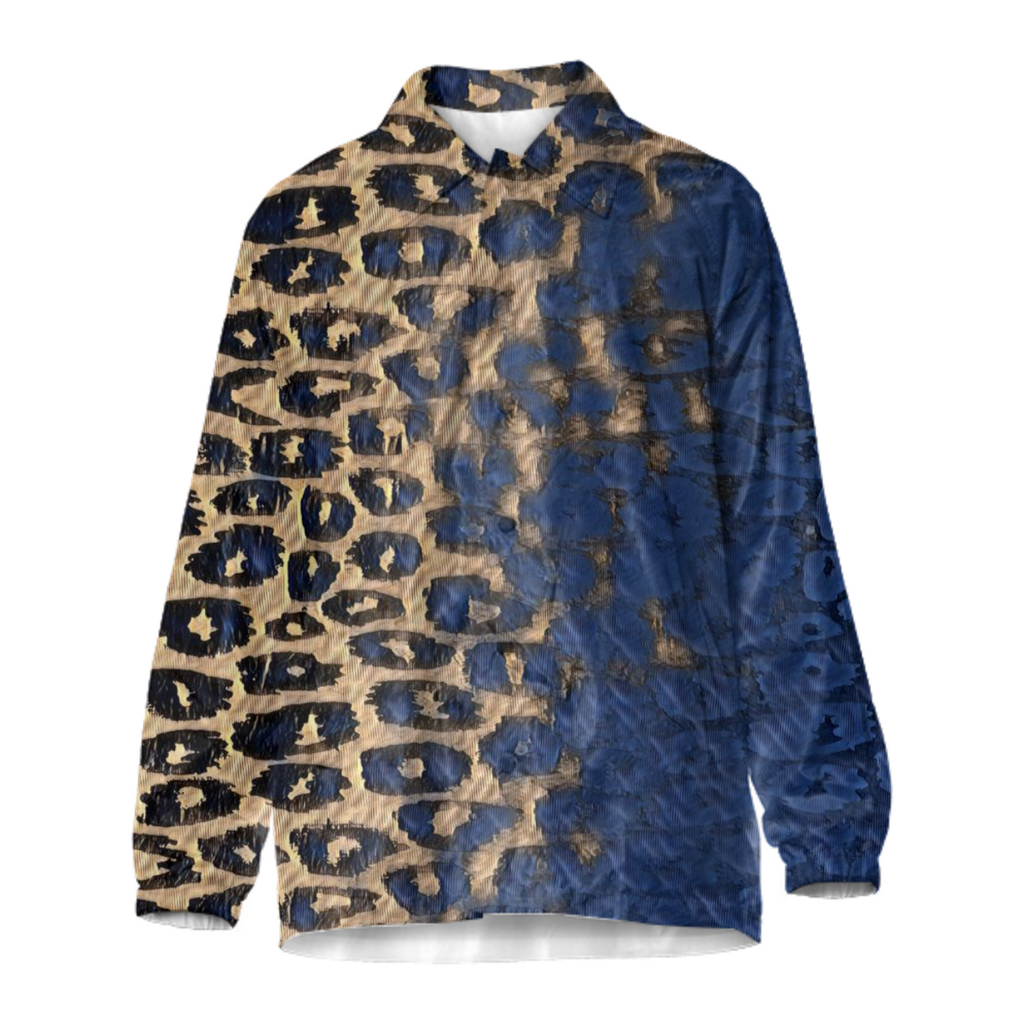 Blue Cheetah Coach Jacket