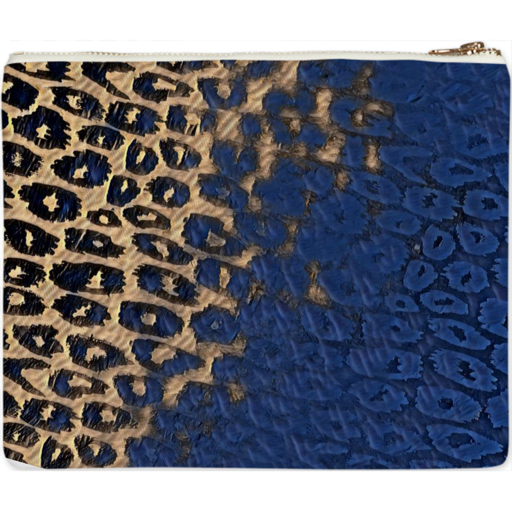 Blue Cheetah Clutch