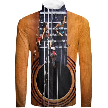 Surreal Guitar Climbers Tracksuit Jacket