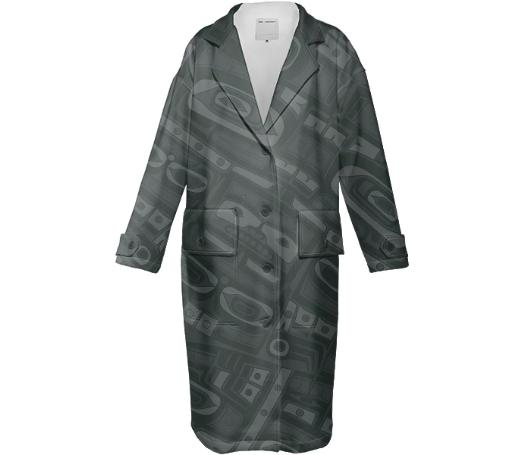 Black Chilkat Trench coat