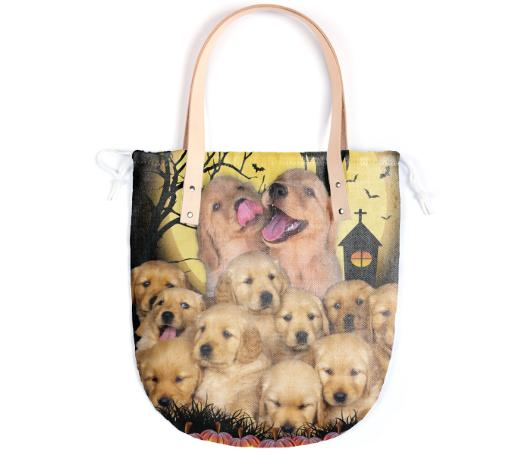 Halloween Themed Dog Lover Summer Tote Bag