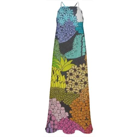 Spectrum Chiffon Maxi Dress